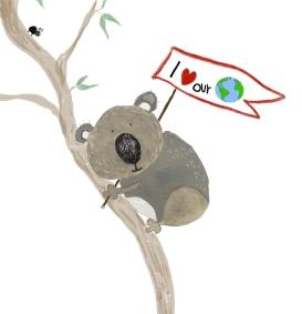 Hope the Koala image with border